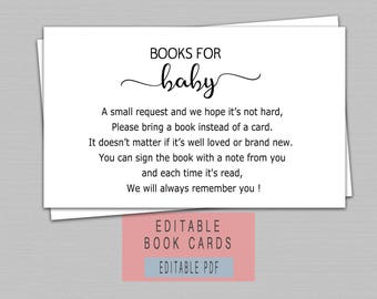 Editable Book Cards