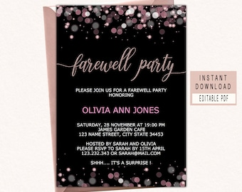farewell invitation etsy