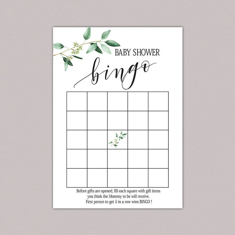 photograph regarding Printable Baby Shower identify Child Shower Bingo Playing cards, little one shower bingo printable, kid bingo playing cards, child bingo video game, Greenery boy or girl shower bingo, instantaneous obtain B61