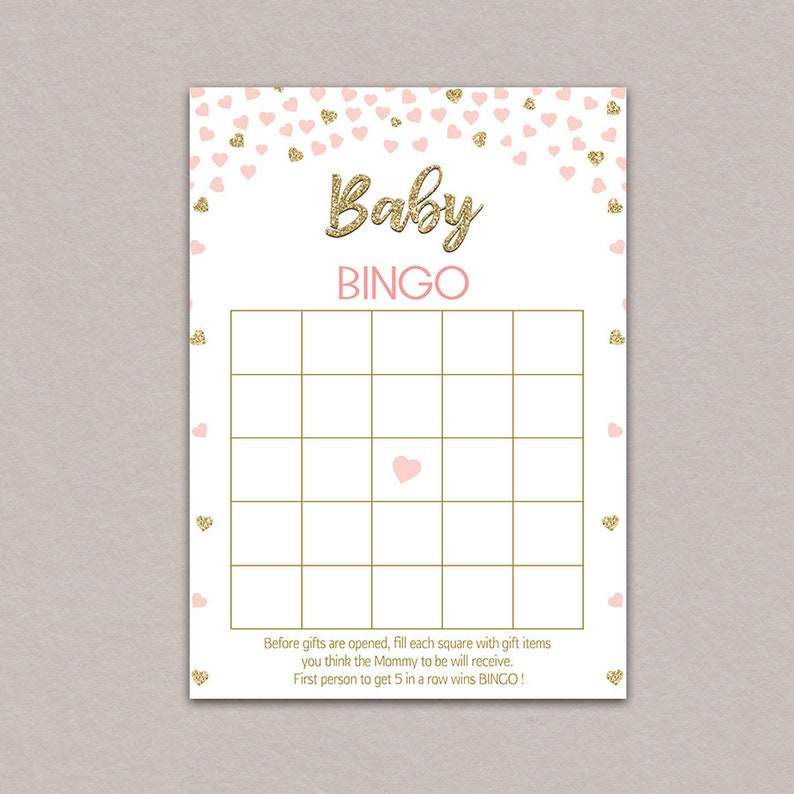 photo about Baby Shower Bingo Cards Printable identify child shower bingo playing cards printable, lady child shower bingo blank, kid bingo playing cards, crimson and gold recreation, Gold Glitter Purple Confetti Hearts B50