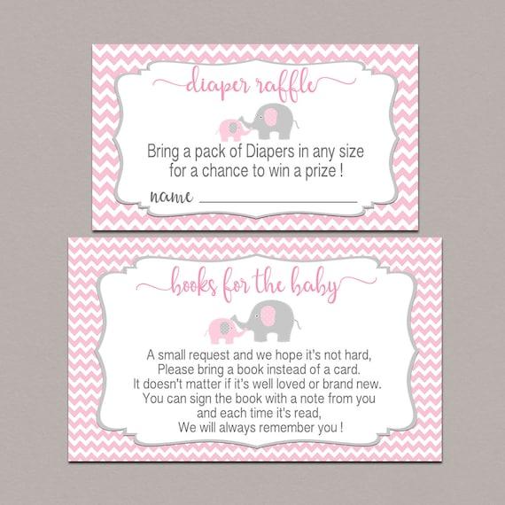 elephant diaper raffle ticket printable books for baby etsy