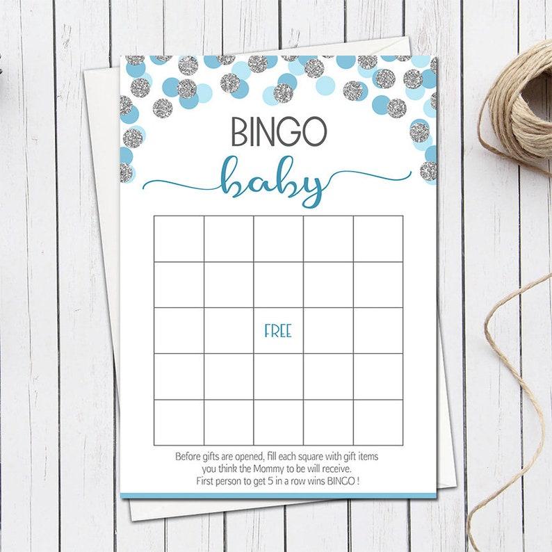 Baby Shower Bingo Boy Baby Shower Bingo Cards Printable Baby Etsy