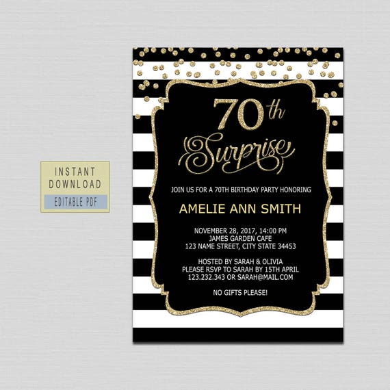 70th surprise birthday invitation instant download 70th etsy image 0 filmwisefo