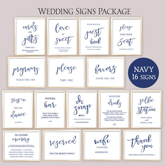 graphic regarding Wedding Sign Printable named 80% OFF military marriage indication, wedding day symptoms package printable, marriage ceremony desk symptoms template, Rustic Impressive Calligraphy Bridal Indications bundle sets