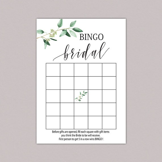 image about Bridal Bingo Printable known as Greenery Bridal shower bingo playing cards, BRIDAL BINGO Playing cards, bridal bingo printable, bridal bingo video game, Inexperienced Leaves bingo down load, ground breaking B61