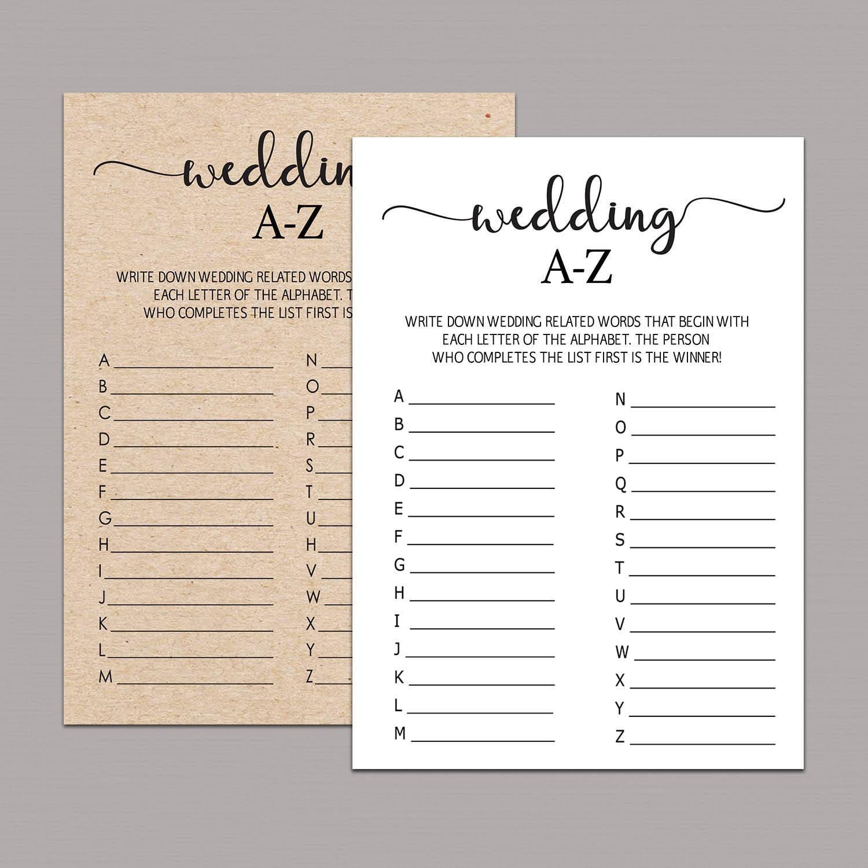 rustic bridal alphabet game wedding a to z ructic wedding