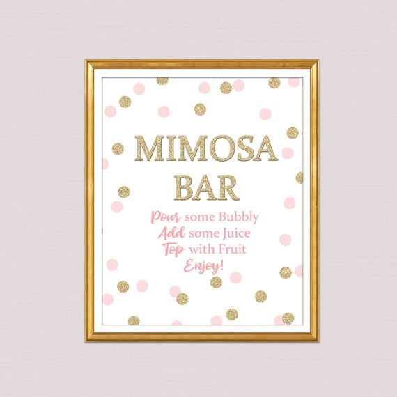 image about Mimosa Bar Sign Printable referred to as mimosa bar signal printable little one shower, mimosa indicator bridal