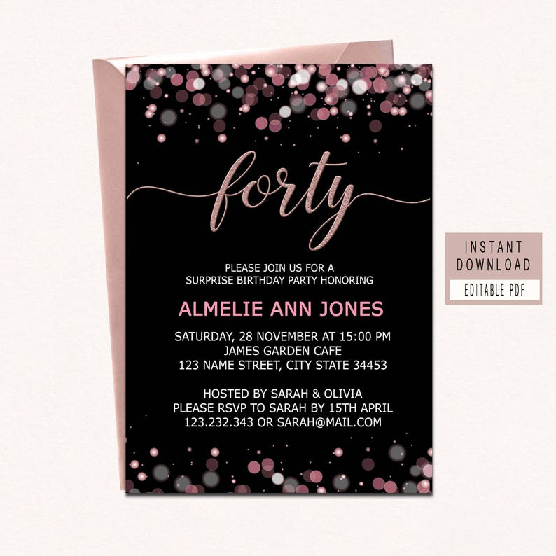 Forty And Fabulous Invitation 40th Birthday Invitations For