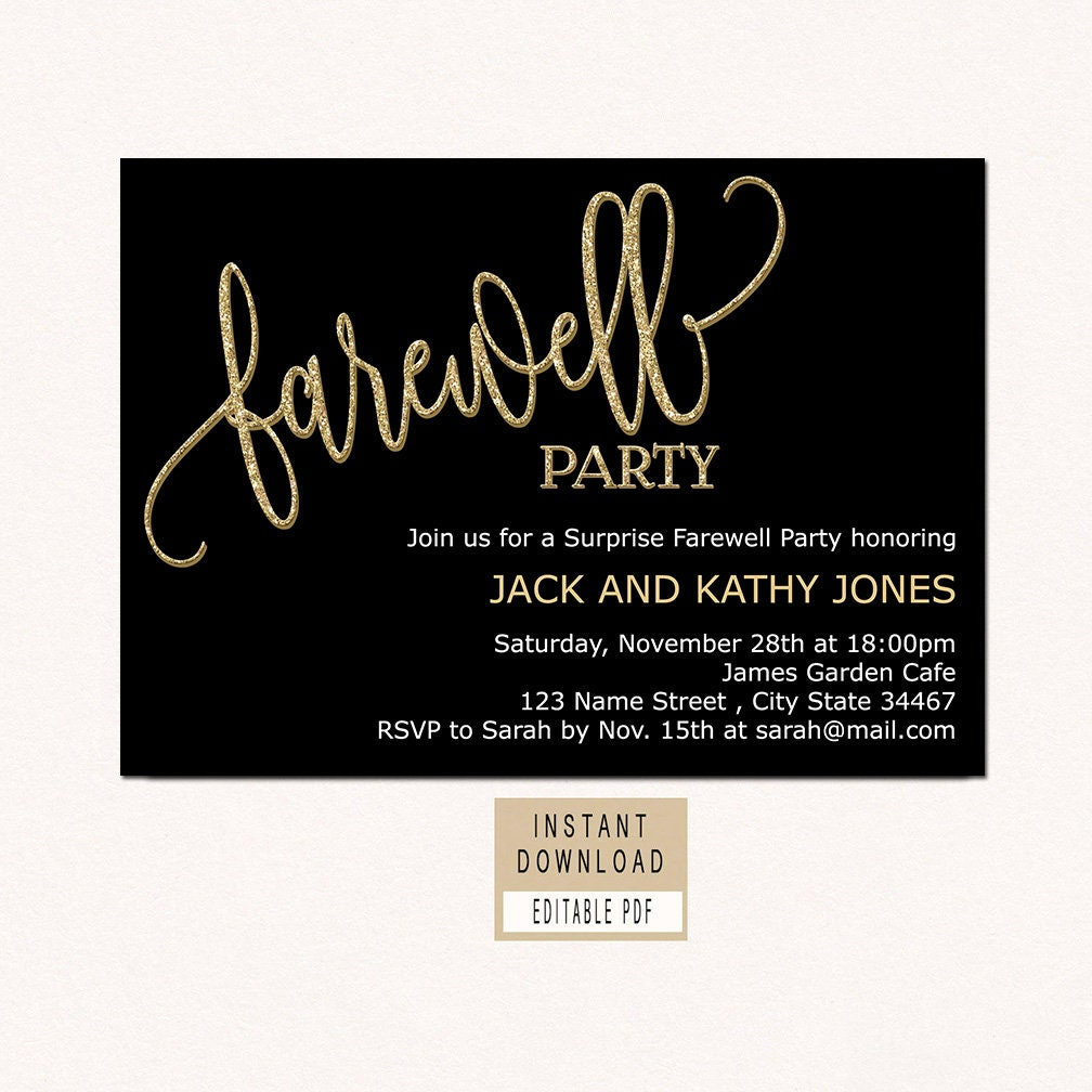 farewell invitation download farewell invitation template