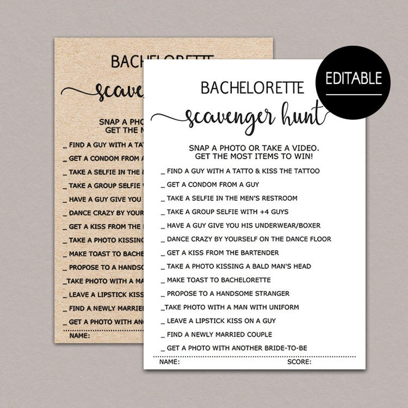photograph about Printable Bachelorette Scavenger Hunt called Bachelorette Scavenger Hunt, Printable Bachelorette Social gathering Video games, Photograph Issue Match, Editable Bridal Shower Game titles, Hens Celebration rustic B11