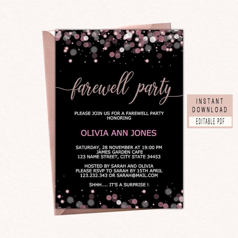 farewell party invitation download farewell invitation