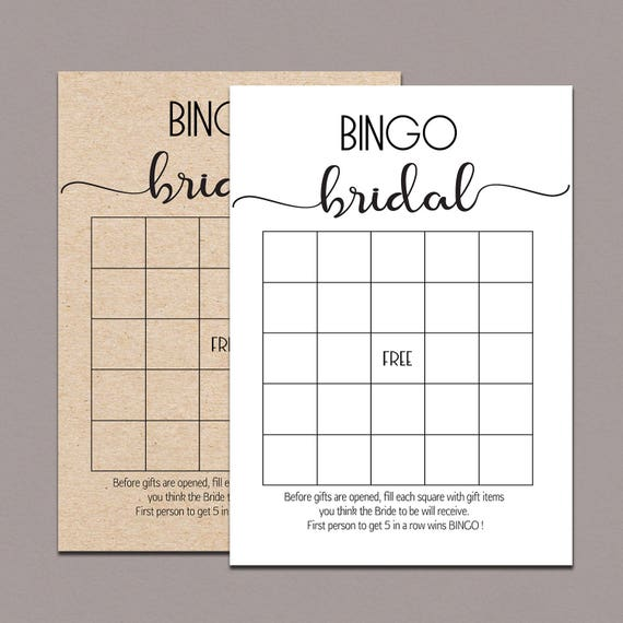 photo regarding Free Printable Bridal Shower Bingo named Bridal shower bingo playing cards, BRIDAL BINGO Playing cards, bridal bingo printable, bridal bingo match, rustic bridal shower bingo activity, kraft game titles B11