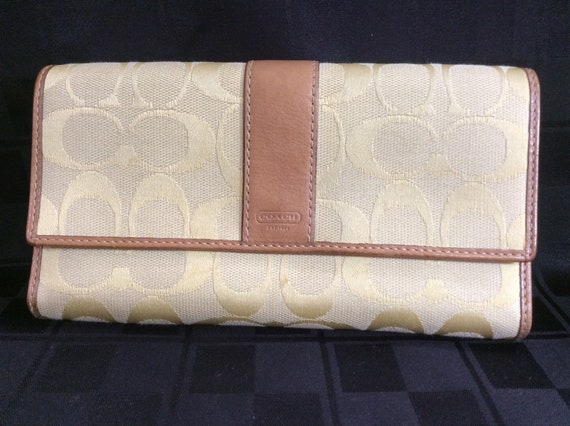 Vintage Coach Purse Clutch Hand Bag | Butter Yello