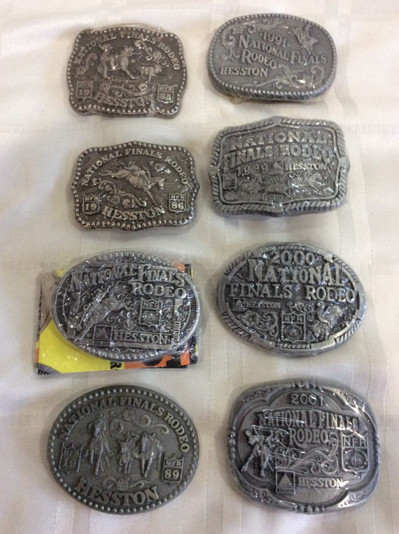 Hesston National Finals Rodeo Belt Buckle NFR Youth Cowboy Western New 2000