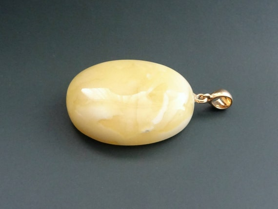Baltic Amber Beautiful Pendant. Weight ~ 8,93 g. 天然琥珀 #ET0521