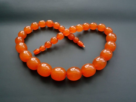 Baltic Amber Beautiful Vintage Beads. Old Pressed Amber. Weight ~ 85 g. 天然琥珀 #ET0496