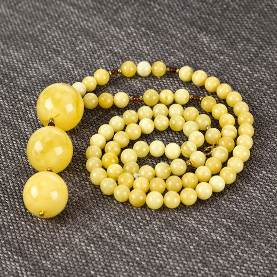 Baltic Amber Beautiful Necklace yellow ~ 47,30 g. 728007937COM