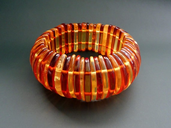 Baltic Amber Beautiful Bracelet. Weight ~ 60 g. 天然琥珀 #ET0543
