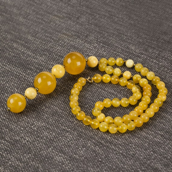 Baltic Amber necklace yellow. Weight 49 g. 728008295COM