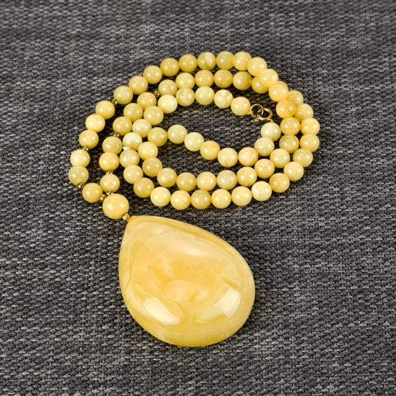 Baltic Amber necklace yellow ~ 43,3 g.728007867COM