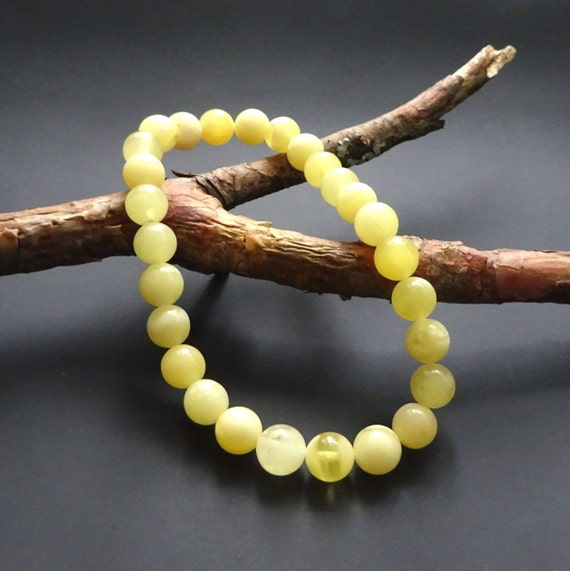 Baltic Amber Beautiful Bracelet. Egg Yolk Color. Weight ~ 6.50 g. 天然琥珀 #ET0093