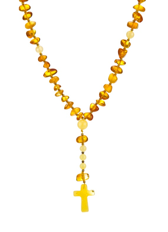 Baltic Amber Catholic Rosary Beads ~ 22.8 g. مسبحة, Catholic Rosary Beads, Amber Jewelry, Natural Amber #ET728009755