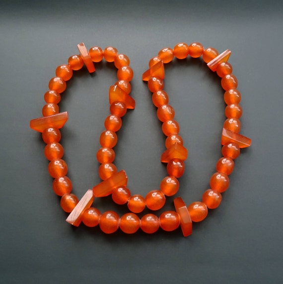 Baltic Amber Beautiful Vintage Beads. Old Pressed Amber. Weight ~ 27 g. 天然琥珀 #ET0494