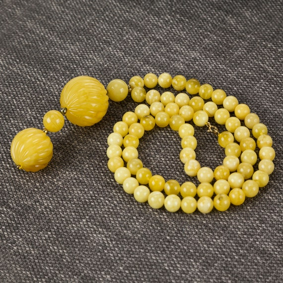 Baltic Amber necklace yellow. Weight ~ 55.2 g. 728007940COM