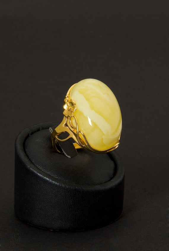 Baltic Amber Beautiful Ring Original Design 9.8 g 琥珀環, Amber Jewelry, Luxurious Amber Jewelry, Natural Amber #ET728008182