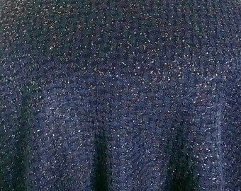 7bcd6cb4162 Navy Blue Heavy Stretch Jersey Shiny Metallic Lurex Sparkling, Shimmering  Dress Fabric Two-Way Stretch 60