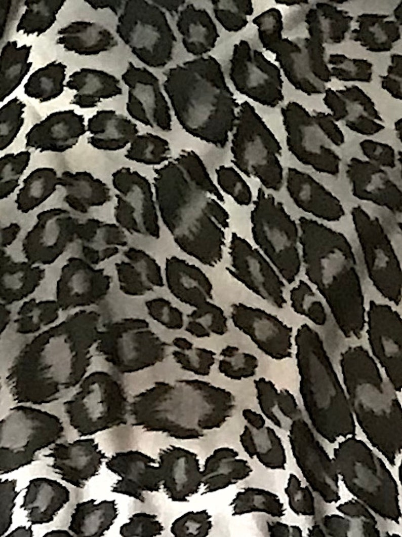 98104bb3bf7 Gray Stretch Rayon Spandex Jersey Animal Print Fabric By The | Etsy