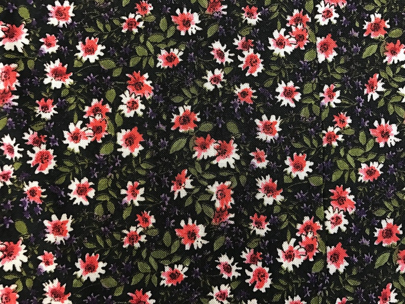 560f2c54697 100% Organic Rayon Challis Ditsy Floral Print Fabric By The