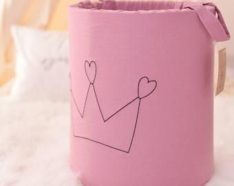 toy storage-dusty pink toystorage-girl nursery decor, nursery storage basket, organizer bin, fabric basket, dusty pink