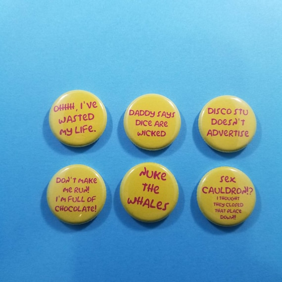 "Ewoks Cartoon set of 6 one inch 1/"" buttons pins badges Star Wars Droids"