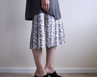 slip dress with floral pleats skirt