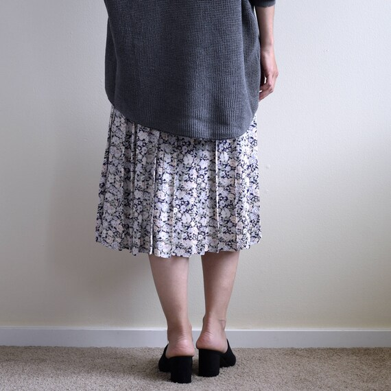 slip dress with floral pleats skirt - image 2