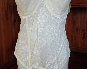 213cb41fe Gorgeous vintage Lace Bustier by Goddess Two sizes 36D (4) 46D (1) all have  the hang tags and most in the manufacturer bag