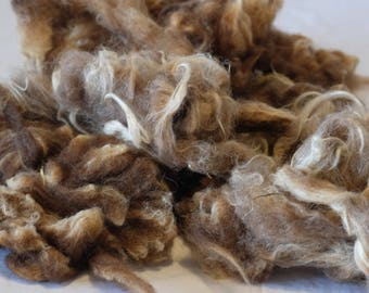 Wool from the sheep, washed