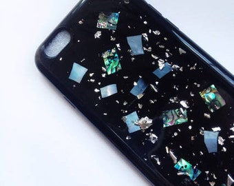 silver foil and holographic iphone 6 /6s case