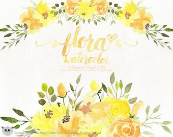 Yellow Flower Wreath Etsy