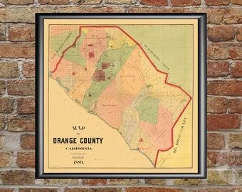 photo regarding Printable Map of Orange County Ca identified as Map of orange county Etsy