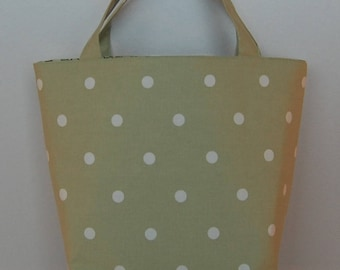 Gorgeous Handcrafted Pale Green Linen Tote Bag