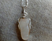Agate from Safford, Arizona Wire Wrapped Sterling Silver Pendant