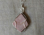 Jasper from Safford, Arizona Wire Wrapped Sterling Silver Pendant