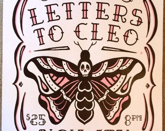 Letters To Cleo screenprint poster 11-04-16