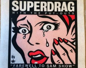 Superdrag screenprint poster 06-20-03