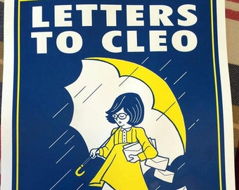 Letters To Cleo screenprint poster 11-17-16