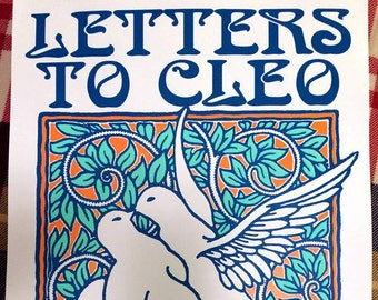 Letters To Cleo screenprint poster 11-20-16