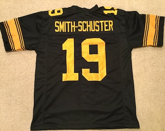 1de48b9bc Pittsburgh Steelers JuJu Smith-Schuster UNSIGNED CUSTOM Made Color Rush  Jersey