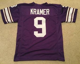 2eaf740c1 Minnesota Vikings Tommy Kramer UNSIGNED CUSTOM Made Purple Jersey